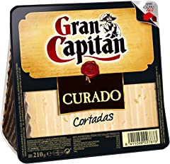 Gran Capitán Queso Curado Cortadas, 210g