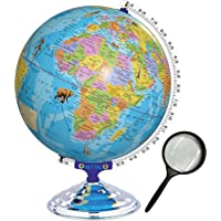 MITTAL Brand (Globe Shoppe) Educational Political Laminated 12 Inches Globe with Monuments with Heavy Metal Arc and Base…