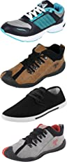 Chevit Combo Pack of 4 Casual and Sports Shoes for Mens (Sneakers & Jogging & Running Shoes)