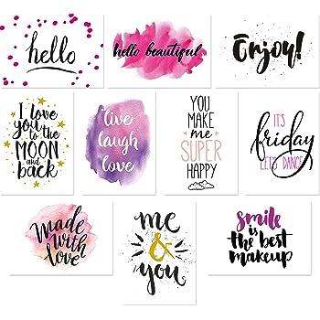 postkartenset sprüche 20 Typographie Postkarten Set, 10 Motive mit jeweils 2 Karten  postkartenset sprüche