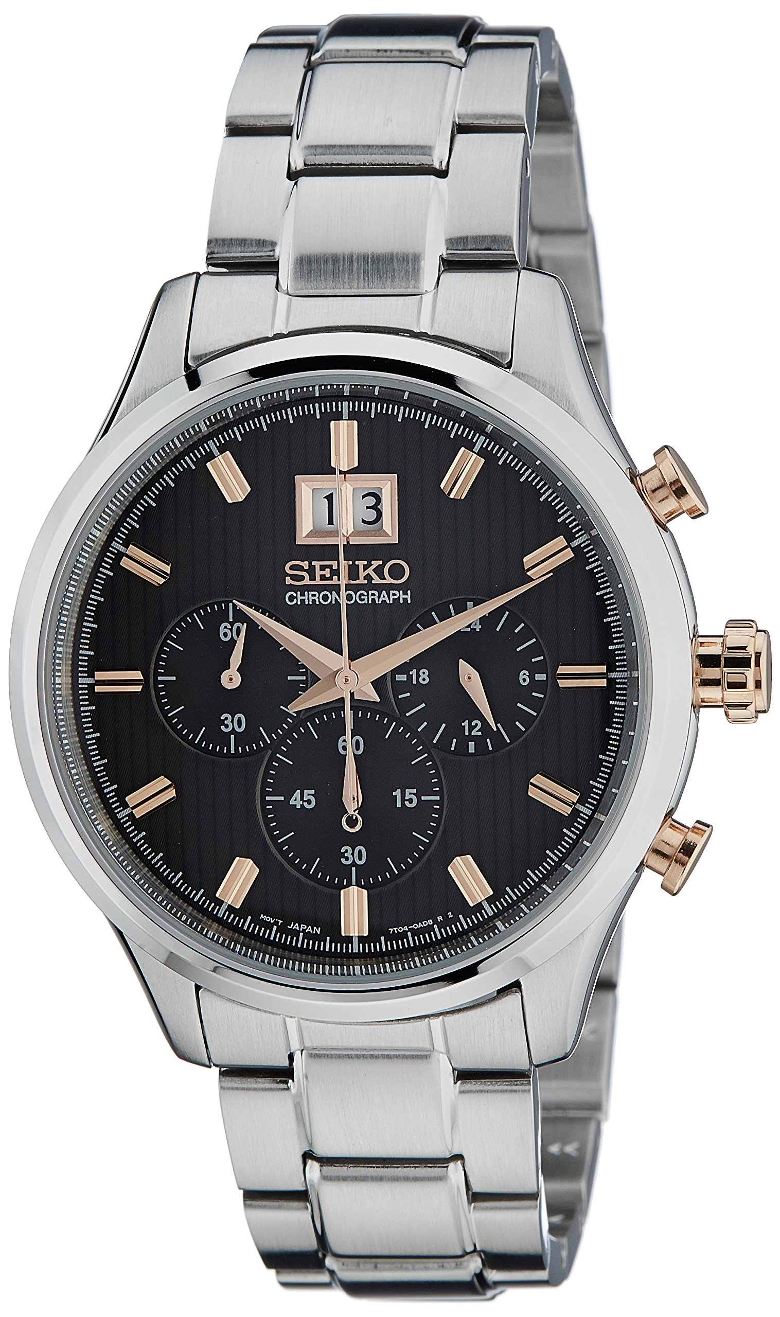 Seiko Dress Chronograph Black Dial Men's Watch – SPC151P1
