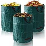 FORMIZON Opvouwbare afvalzakken, set van 3 tuinzakken, 272 liter, zelfopstellend, tuinafvalzakken, professioneel voor tuinafv