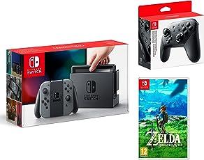 Nintendo Switch Konsole Grau 32Gb + The Legend of Zelda: Breath of the Wild + Nintendo Switch Pro Controller