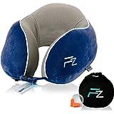 FLOWZOOM® aufblasbares Nackenkissen Reise   Innovatives Nackenkissen aufblasbar mit nur einem Atemzug   Ideal für Flugzeug-Re
