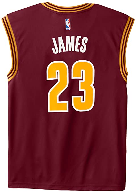 c26aba23ebe1 ... NBA Cleveland Cavaliers LeBron James 23 Mens Stretch Replica Jersey