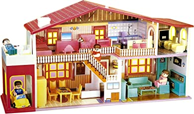 Toyshine DIY 50 Pcs Doll House Creative Edition, Accessories Included