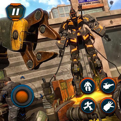 Robot Bike Transformer Gioco di corse e spari: Kill Deadly Gangster In Fighting Simulation Adventure Game 2018