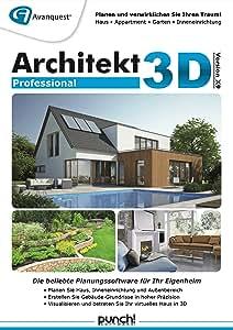 architekt 3d x9 professional planen sie ihr eigenheim daheim am pc ganz einfach selbst. Black Bedroom Furniture Sets. Home Design Ideas