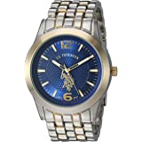 U.S. Polo Assn. Mens Quartz Watch, Analog Display And Stainless Steel Strap - USC80466