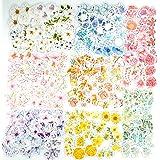 360 autocollants de fleur PC autocollant floral assorti coloré, 8 autocollants de décalcomanie de style autocollants de papie