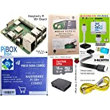 Raspberry Pi 3B+ / 3B Plus Motherboard Combo - PiBOX India Variation (PiBOX - Essential Combo Black 3215BK) - ** Now…