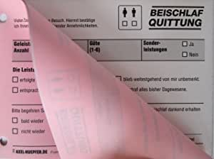 "Beischlaf Receiptâ Â€"" A Funny Receipt Block [German Language]"