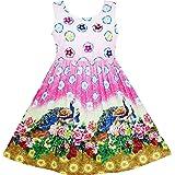 Sunny Fashion Vestito Bambina Cartoon Colorato Matita Fusciacca 2-in-1 Sole 5-12 Anni