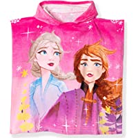 Disney Official Frozen 2 Licensed Girls Hooded Characters Poncho Towel. Elsa & Anna Characters. 100% Cotton Fabric. Perfect for Bath and Beach