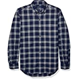 Buttoned Down Men's Tailored Fit Supima Cotton Brushed Twill Plaid Sport Shirt