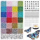 12000 stuks kleine ambachtelijke kralen, 3mm 24 kleuren ambachtelijke rocailles pony kralen glazen rocailles en 218 stuks wit