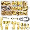 DazSpirit Fotohaken, set van 250 stuks, met draad, D-ringen, oogschroefogen, tandhangers, stalen haken en spijkers voor thuis