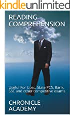 READING COMPREHENSION: Useful For Upsc, State PCS, Bank, SSC and other competitive exams