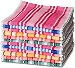 Sleepinns Stripe 100% Cotton Face Towel GSM 440 L W 30*30 CM With Multiple Optional Pack