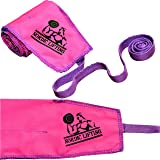 """Crossfit Wrist Wraps (1 Paar/2 Wraps) 32"""" (80cm) Pure Kraft für Gewichtheben/Workouts/Gym/Powerlifting/Bodybuilding/Crossfit – Support für Frauen & Männer - Premium Qualitätsequipment & Accessoires – Verwende Handschuhe, Hooks, Wraps & Strapsum Verletzungen beim Krafttraining zu vermeiden – (Pink/Violett) - 1 Jahr Garantie"""