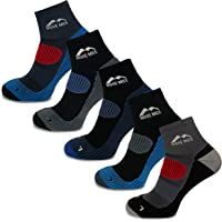More Mile Cheviot Trail Running Socks (5 Pack) Compression Arch Brace, Cushioned Sport Socks, Mesh Zones, Lightweight…