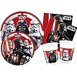 Ciao-Kit Party Tavola Star Wars Final Battle persone (112 pezzi Ø23cm, piatti Ø20cm, 24 bicchieri plastica 200ml, 40…