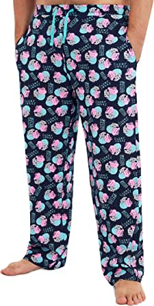 Peppa Pig Pyjamas for Men, Cotton Pajamas for Man, Pyjama Bottoms Sizes Small to 3XL, Funny Gifts for Men, Presents for Dad, Official Clothes Merchandise