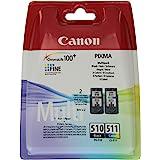Canon PG510CL511 Cartouche d'encre pour Pixma MP272 Noir + Couleur