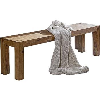 ... Massiv Holz Sheesham 140 X 45 X 35 Cm Design Holz Bank Natur Produkt  Küchenbank Landhaus Stil Dunkel Braun Bank 3 Sitzer Für Innen Ohne Rücken  Lehne ...