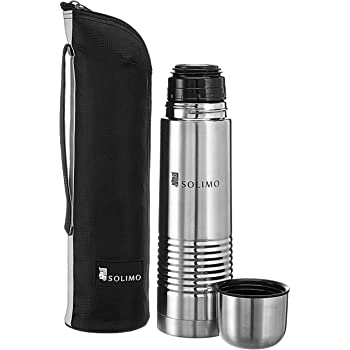 Amazon Brand - Solimo Thermal Stainless Steel Flask, 1000 ml
