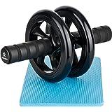 BODYMATE AB Roller Classic I Bauchtrainer mit Knieauflage I Bauchroller mit Komfortgriffen I Bauchmuskeltrainer I AB Wheel