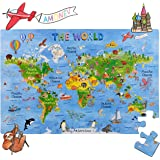 World Map 100 Piece Puzzle eeBoo PZWR