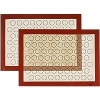 XingJie Lot de 2 tapis de cuisson en silicone sans BPA (29,5 x 42 cm) Macarons antiadhésif Tapis de cuisson durable…