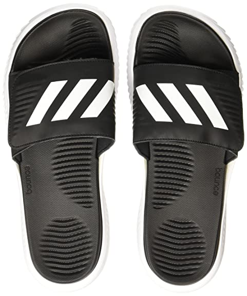 f5b293b0135 Adidas Men s Alphabounce Slide Ftwwht Cblack Ftwwht Flip-Flops - 11  UK India (46 EU)  Buy Online at Low Prices in India - Amazon.in