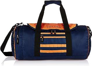 Amazon Brand - Solimo Gym Bag (29 litres, Midnight Blue & Orange)