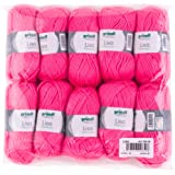 Gründl 760 Pelotes de laine polyacrylique, Polyacrylique, rose fluo, 32 x 27 x 06 cm