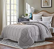 EVOLIVE All Season Pre Washed Soft Microfiber White Goose Down Alternative Comforter