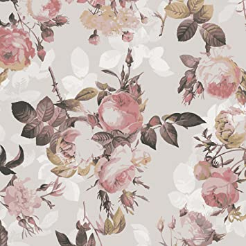 Pellicola adesiva - Vintage floral pattern with roses, carta ...