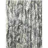 Deurgordijn chenille grijs 90x220cm, 22s