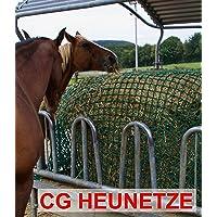 Heunetz - Raufe - 4,5 cm Maschenweite Gr. 3,50m x 3,50m orig. CG Heunetz inkl. 4 Schnüre zur Befestigung an der Raufe