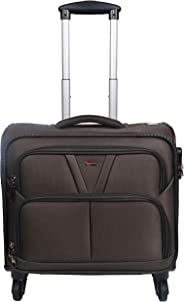 Murano Vegabond 4 Wheel Polyester 28 LTR Brown Soft-Sided 15.6 inch Laptop Overnighter Bag/Luggage Bag