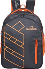 Sassie Grey Polyester 41 Ltr School Backpack