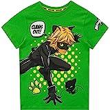 Miraculous Camiseta de Manga Corta para niños Cat Noir