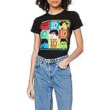 One Direction Dam 9 fyrkanter kortärmad rund hals t-shirt