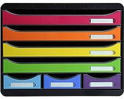 Exacompta 307798D - Caja organizadora, 7 cajones, color multicolor