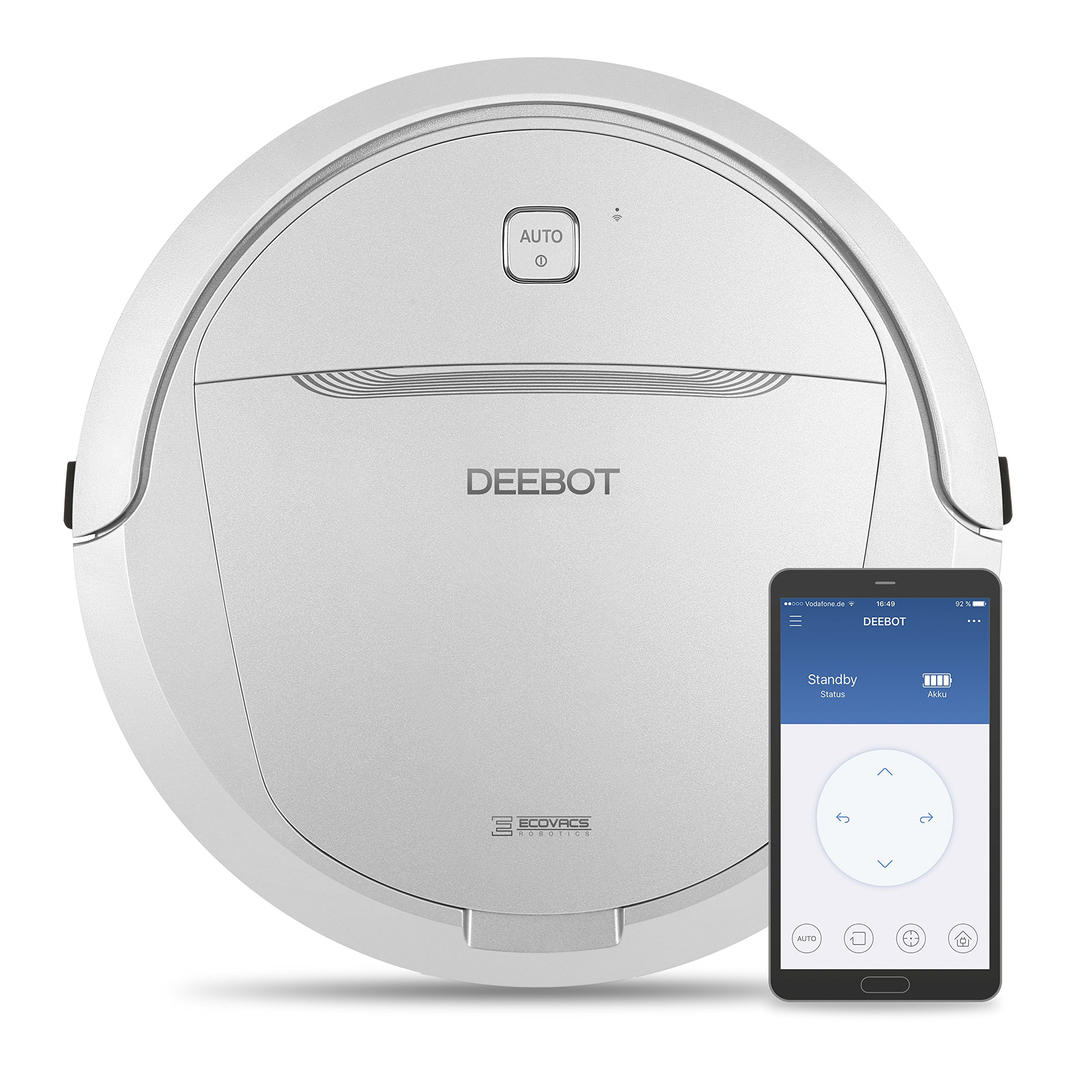 Ecovacs Deebot M81 Pro Saugroboter mit App und Alexa-Sprachsteuerung, grau