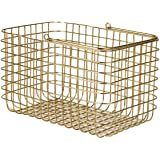 Craft Brio Wire Metal Square Gift Decorative Basket for Storage and Organizing Kitchen and Bathroom Multi-Purpose for…
