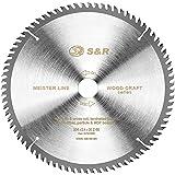 S&R Cirkelsågblad 254 för trä 80T/trähantverk, professionell kvalitet