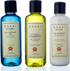 Khadi Mauri Herbal Combo (Hair Conditioner, 210ml + Anti Dandruff Shampoo, 210ml + Anti Dandruff Oil, 210ml)