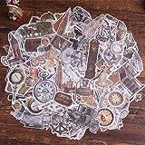 Autocollants de scrapbooking, autocollant de décoration de papier Lychii 240pcs avec éléments rétro, autocollants adhésifs de